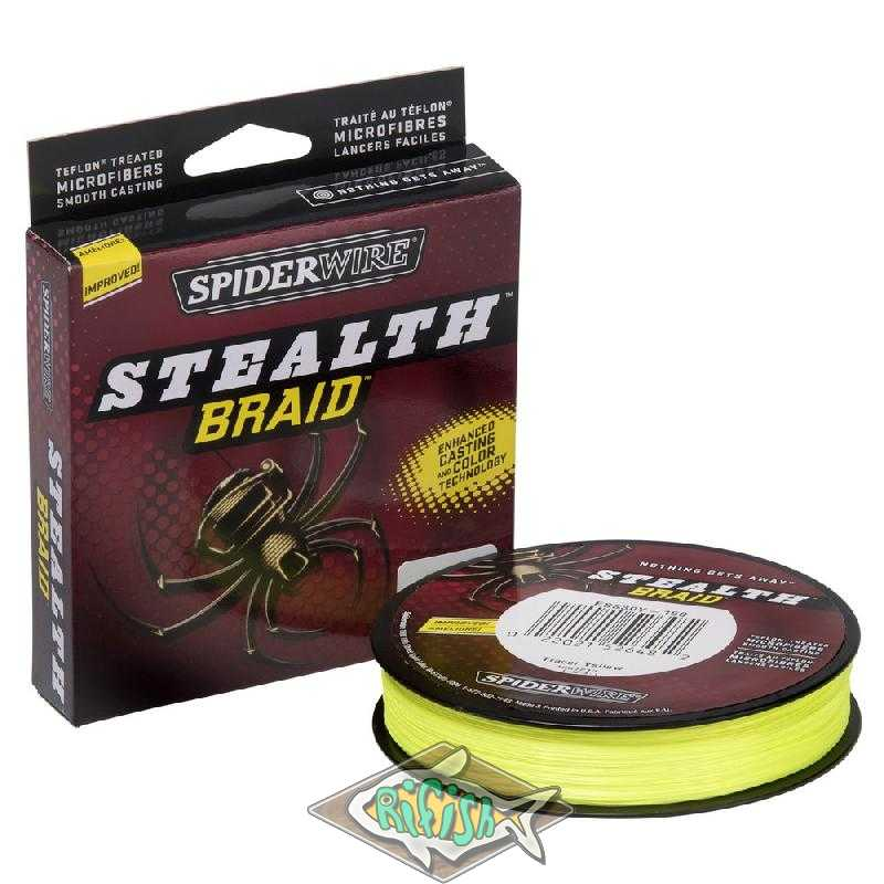 Плетенка Spiderwire Stealth Yellow 0,35мм  137м