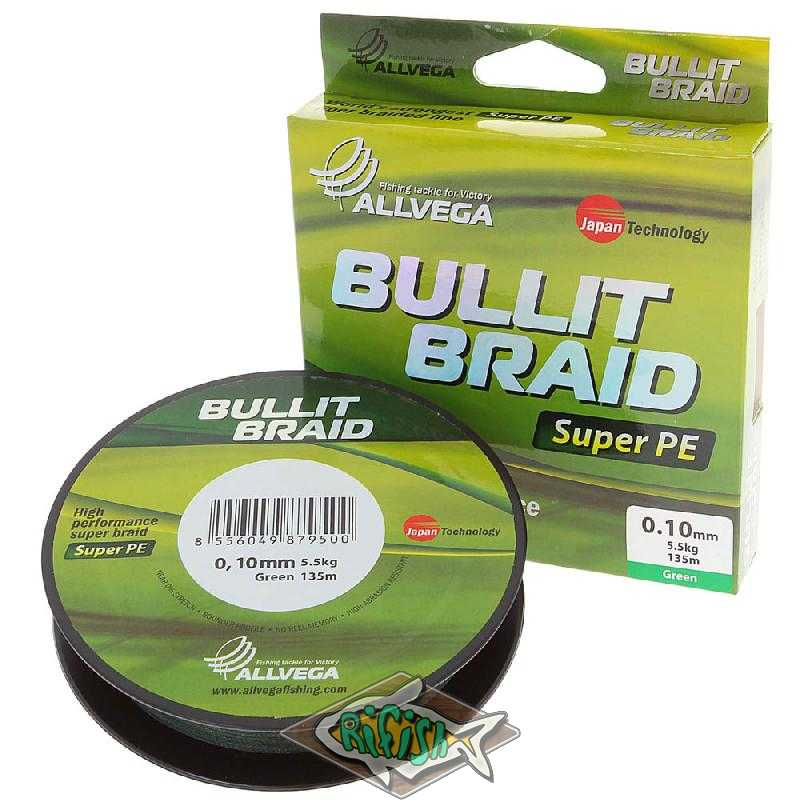 Плетенка BULLIT BRAID 135м Dark Green  0,4 мм